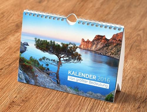 Kalender 2016 – Von größter Bedeutung